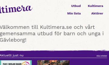 En bild av en hemsida där det står Kultimera